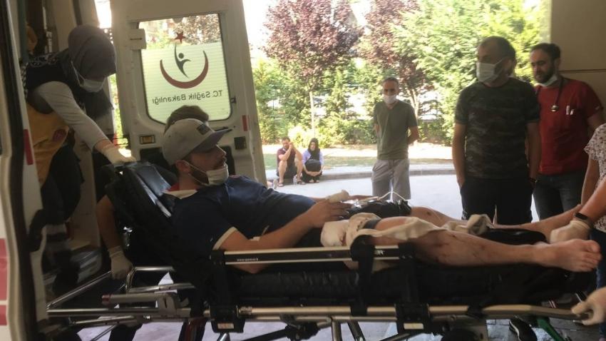 ATV motoru ile gelip, fabrika önünde bekleyen işçiyi pompalı tüfekle yaraladı