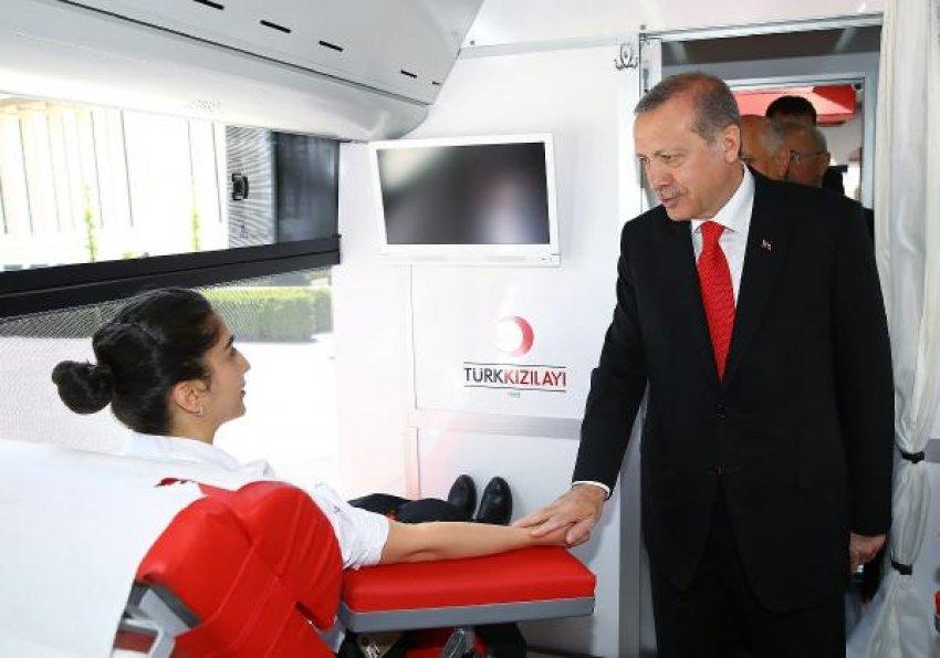 Erdoğan kan veremedi