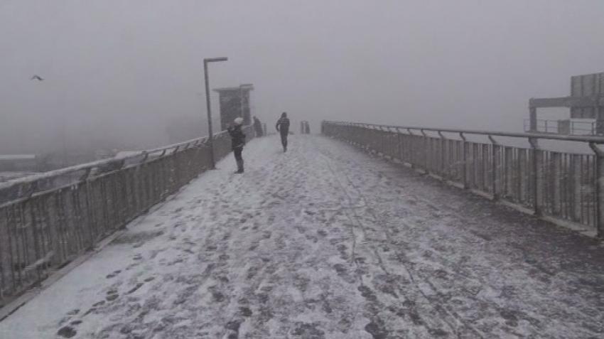 İstanbul'da kar süprizi