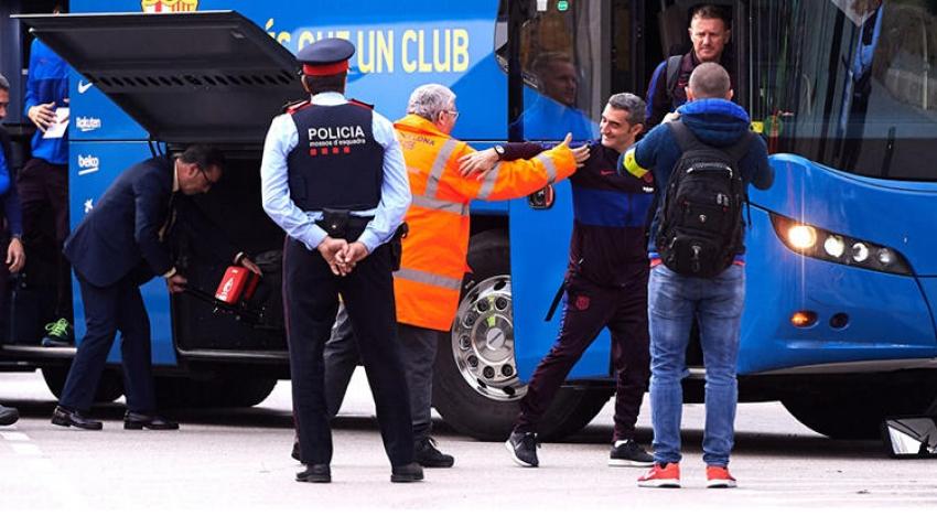 Barcelona futbol takımı gittiği şehirde kayboldu