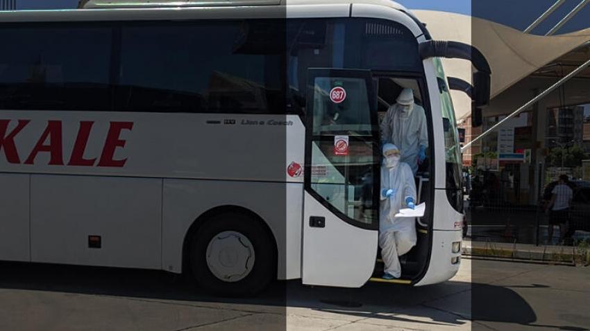 Yolcu otobüsünde virüs paniği