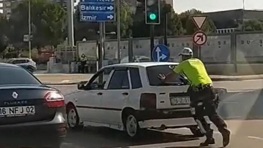Bursa'nın alkışladığı polis
