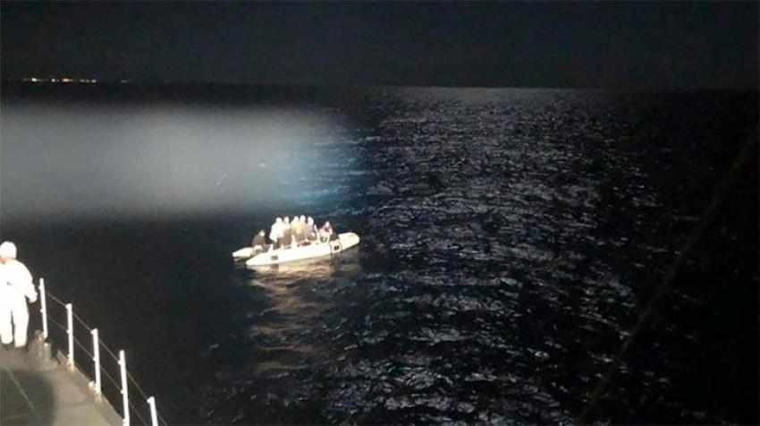 17 kaçak göçmen kurtarıldı