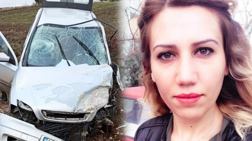 Genç kadın feci kazada can verdi