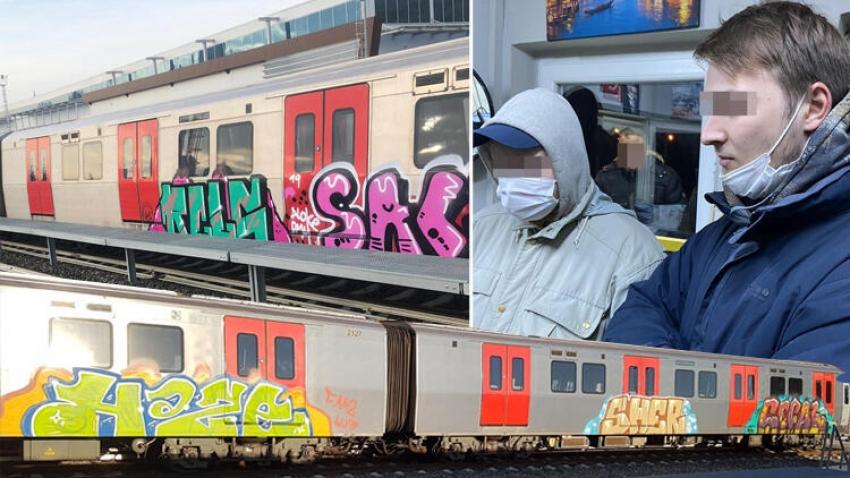 Rus gençlerden Başkent'te grafiti eylemi