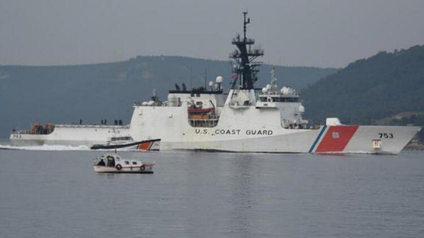 ABD sahil güvenlik gemisi Çanakkale'den geçti