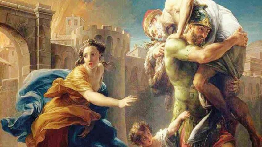 Truvalı Aeneas yola çıkıyor