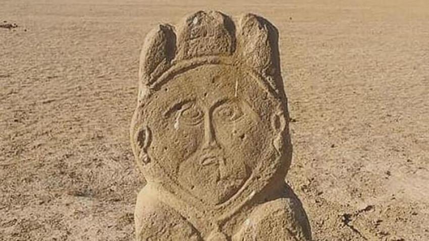 Eski Türk dönemine ait 1300 yıllık taş heykel bulundu