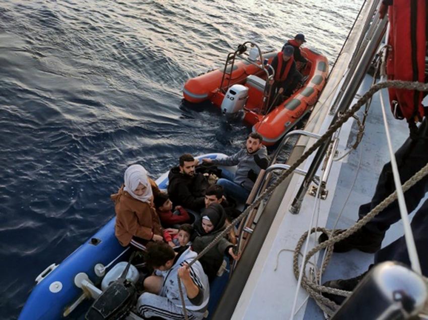 Bodrum'da 130 kaçak göçmen yakalandı