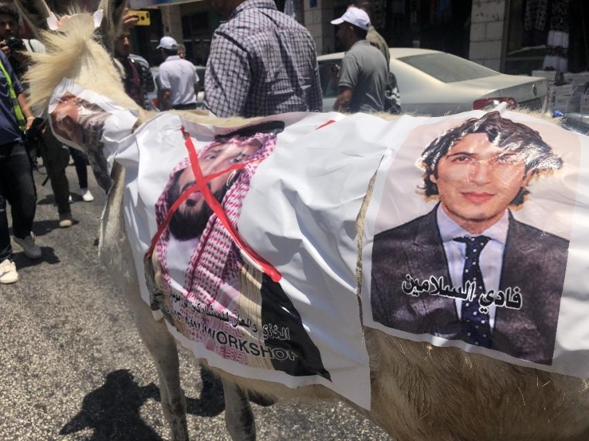 Filistinliler Yüzyılın Anlaşması görüşmelerini kınamak için yürüdü