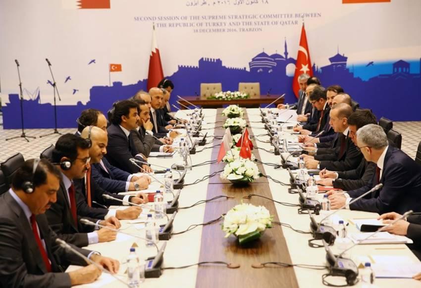 Erdoğan ve Al Tani başkanlık etti