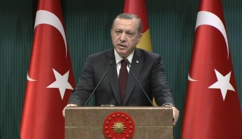 Erdoğan'dan koalisyon güçlerine