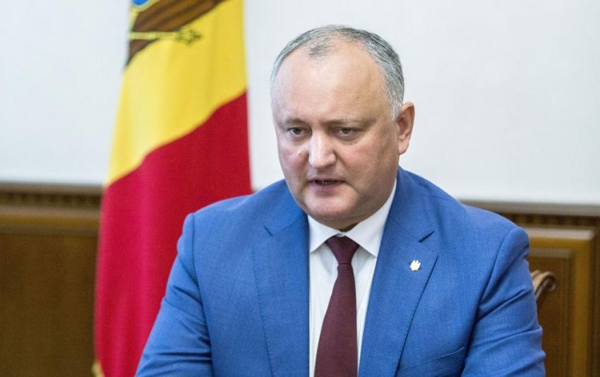 Moldova Cumhurbaşkanı Dodon görevden alındı