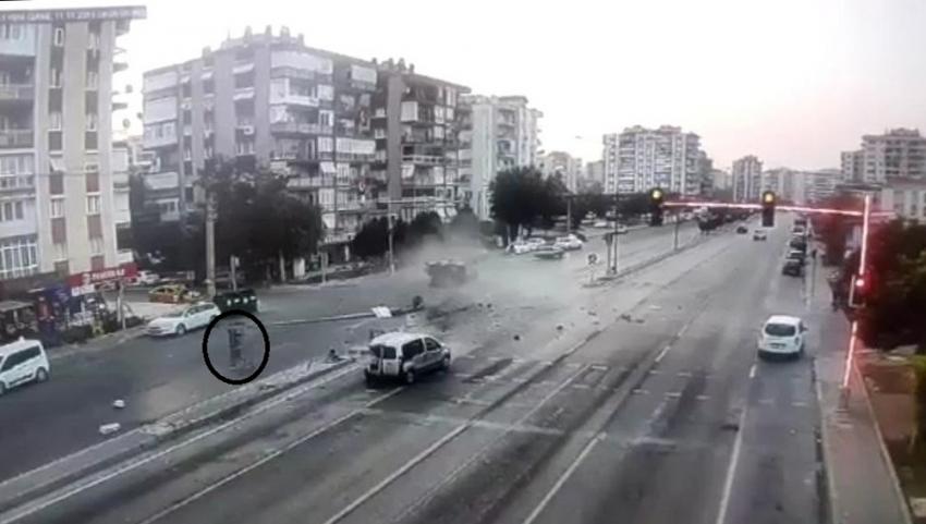 Şoka giren sürücü böyle kaçtı
