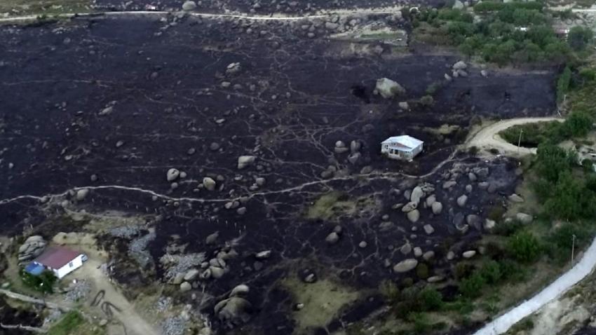 Marmara Adası'ndaki yangının bilançosu gün ağarınca ortaya çıktı