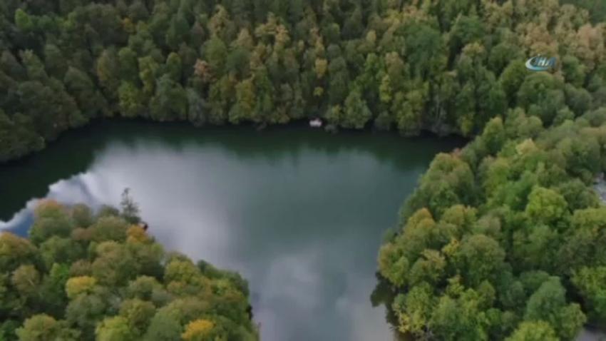 Yedigöller'in havadan görüntüsü hayran bıraktı