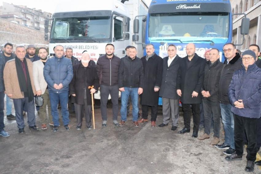 Nevşehir'den deprem bölgesine 9 tır yardım malzemesi