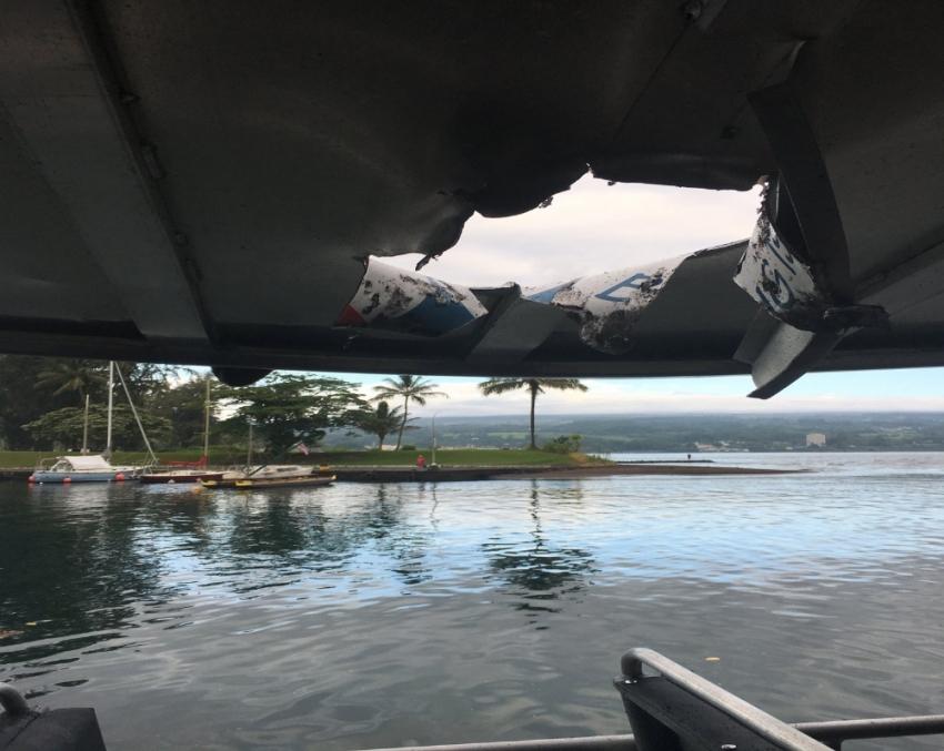 Lav topu tur gemisine isabet etti: 23 yaralı