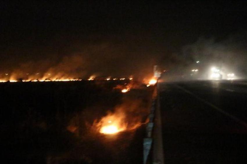 Suriye sınırında yangın