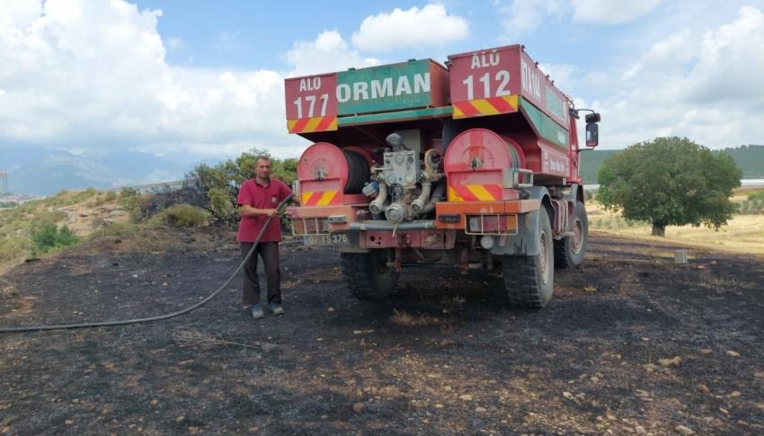 Anız yangınında 20 dönüm tarım arazi zarar gördü