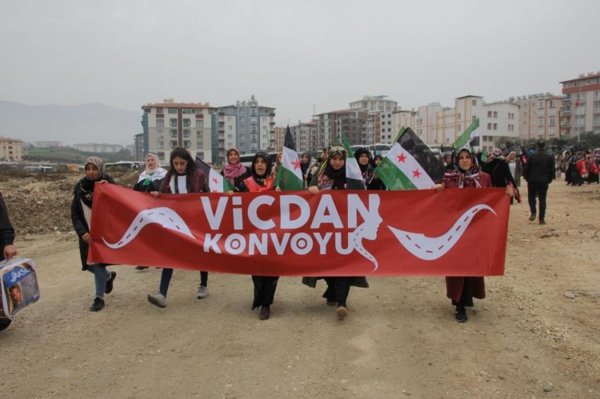 Vicdan Konvoyu Hatay'a ulaştı
