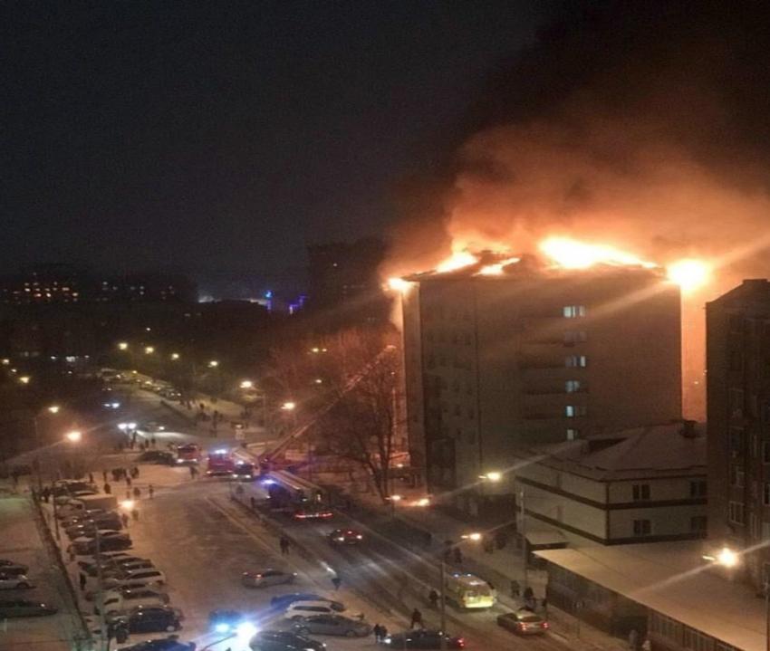 Rusya'da yangın kabusu: 130 kişi tahliye edildi