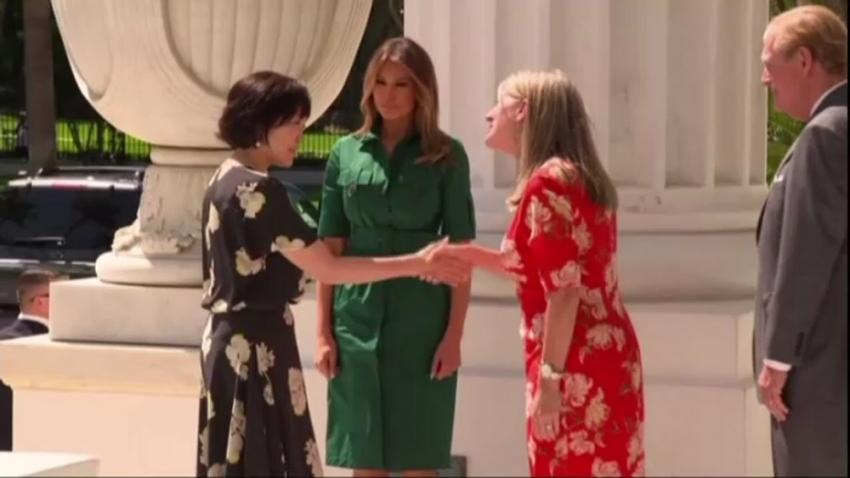 Melania Trump, Akie Abe ile tarih müzesini gezdi