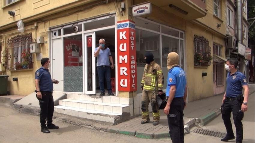 Bursa itfaiyesinden kar maskeli kuş kurtarma operasyonu