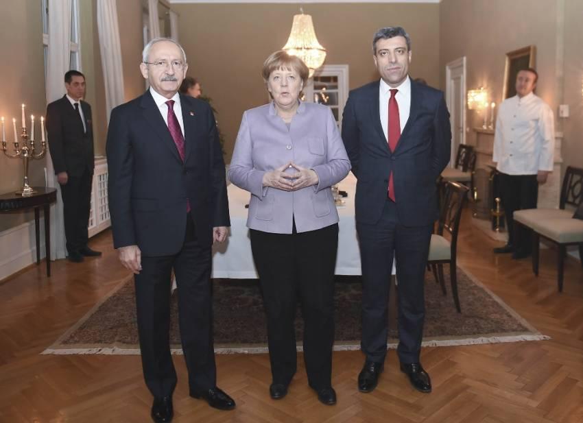 Merkel CHP lideri Kılıçdaroğlu ile görüştü