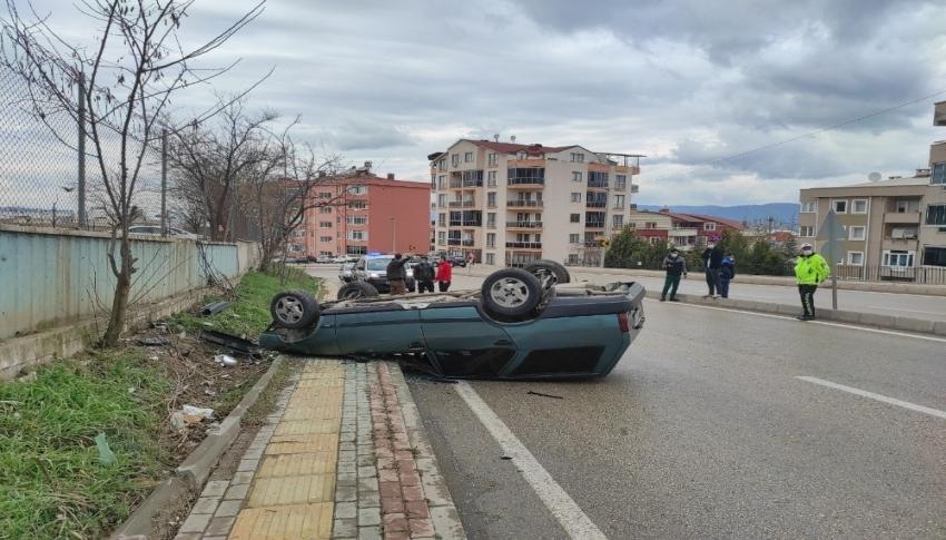 Bursa'da trafik kazası:1 yaralı
