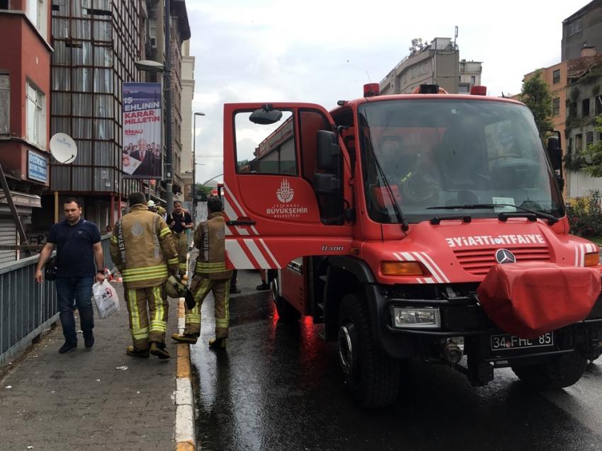 Alevler arasında kalan 3 kadınının yardımına itfaiye koştu