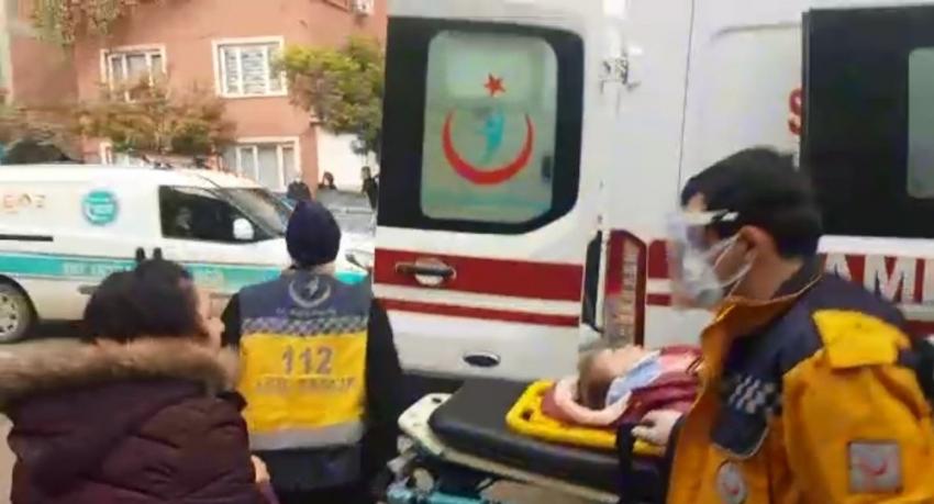 Servis aracının çarptığı küçük kız yaralandı