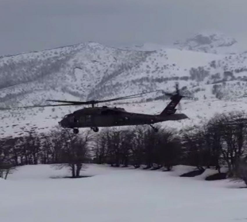Zorunlu iniş yapan polis helikopteri sorunsuz havalandı