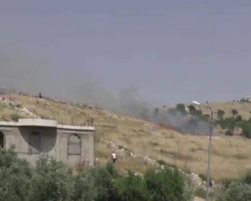 Yahudi yerleşimciler Filistinlilerin tarlalarını böyle yaktı