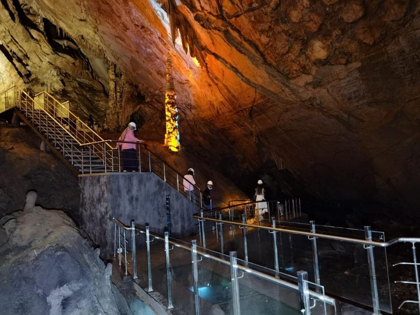 Gökgöl Mağarası'na ziyaretçi akını