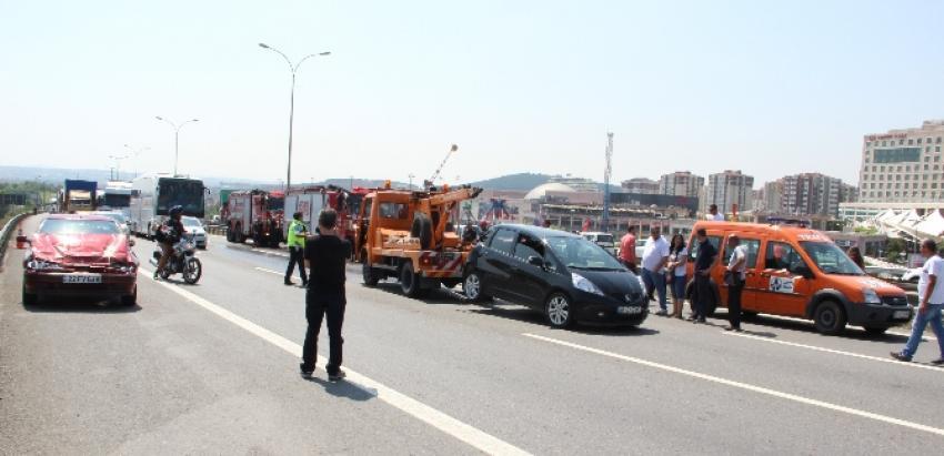 Trafiği felç eden kaza!