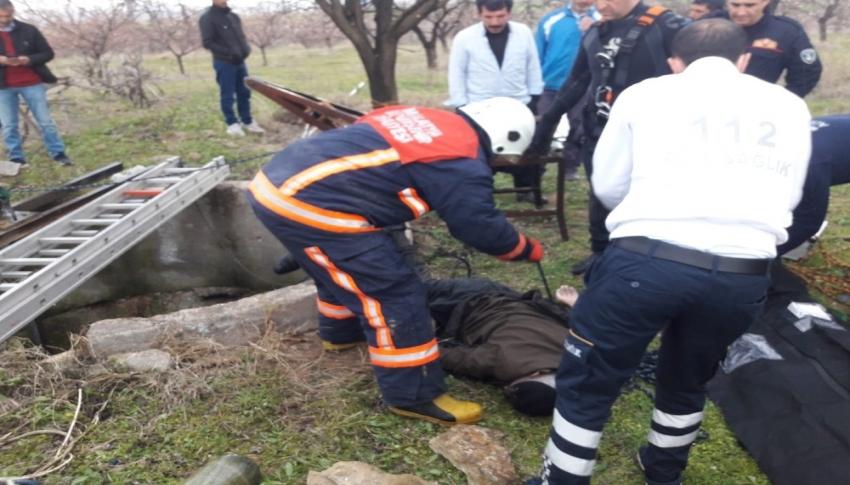 Su kuyusuna düşen yaşlı adam hayatını kaybetti