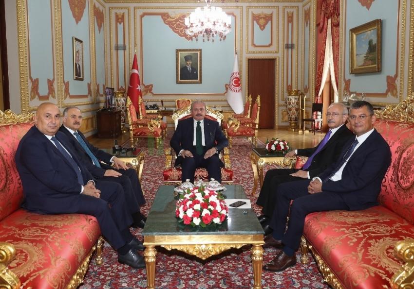 TBMM Başkanı Şentop, CHP Genel Başkanı Kılıçdaroğlu'nu kabul etti