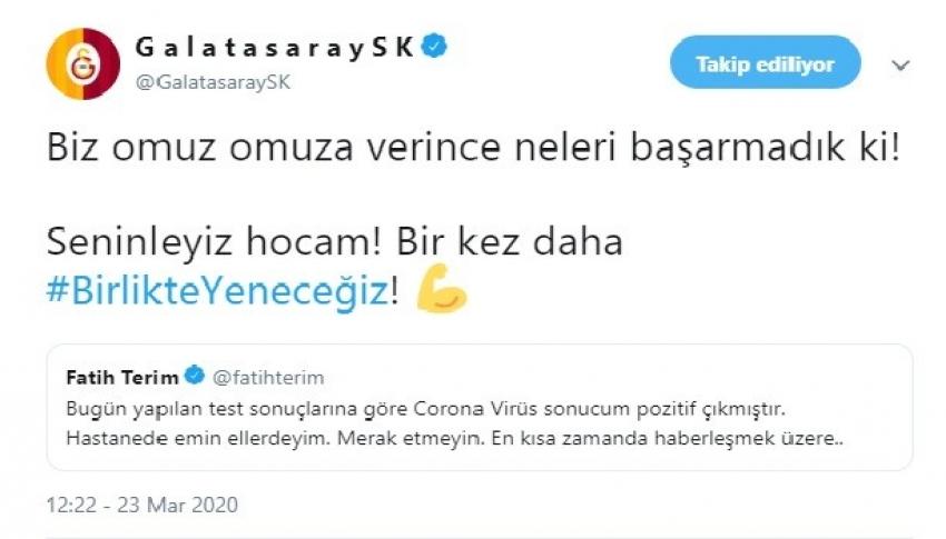 Galatasaray'dan Fatih Terim'e destek mesajı
