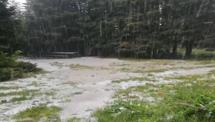 Uludağ'da kar yağmaya devam ediyor