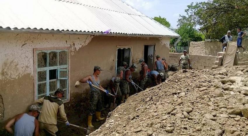 Kırgızistan'da sel felaketi