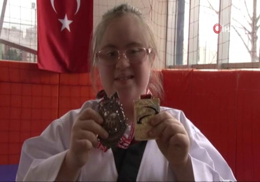 13 yaşındaki down sendromlu Fatima tekvandoda dünya şampiyonu