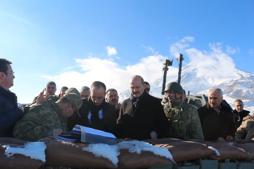 İçişleri Bakanı Soylu, Ağrı Dağı'nda