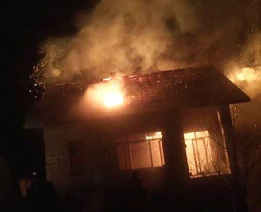 Belediye başkanının evinde korkutan yangın