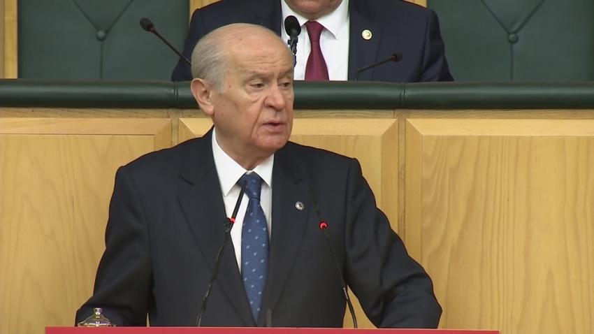"""Bahçeli: """"HDP'yle aynı tarafta olandan bizim duyacağımız hiçbir şey yoktur"""""""