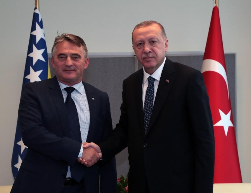 Cumhurbaşkanı Recep Tayyip Erdoğan, Bosna Hersek Devlet Başkanlığı Konseyi Başkanı Jelyko Komsiç'i kabul etti