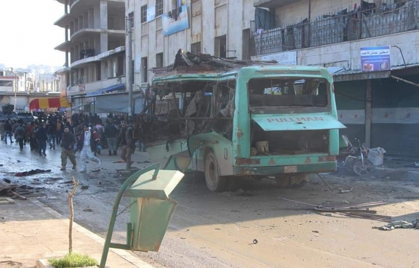 Afrin'de patlama: 2 ölü, 10 yaralı