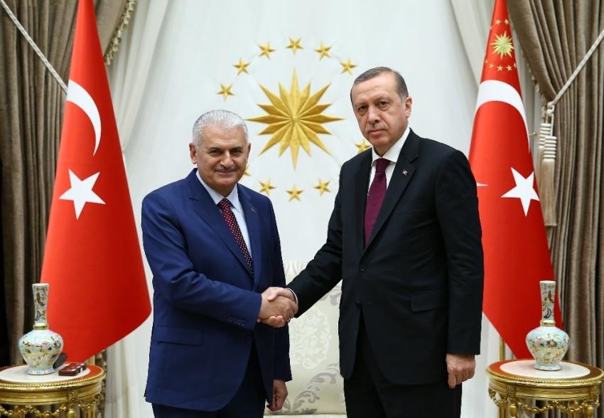 Başbakan Yıldırım'ı kabul etti