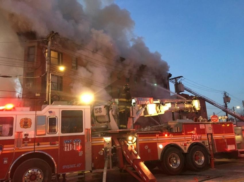 New York'taki yangında yaralı sayısı 22'ye yükseldi