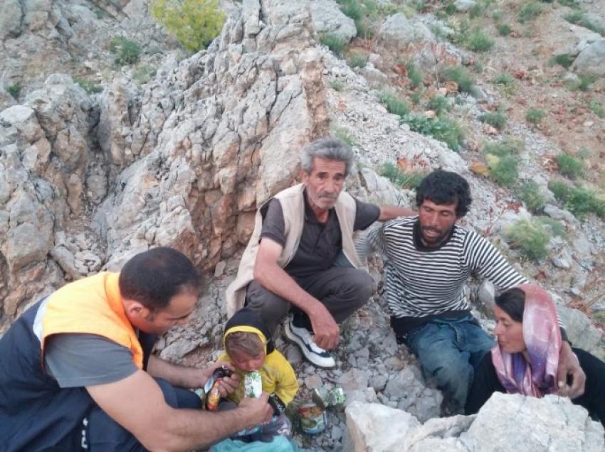 Suriyeli aileyi AFAD kurtardı